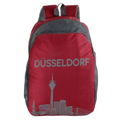 Dussledorf Polyester 17 Liters Red Backpack With Adjustable Strap (DUSS-0301)