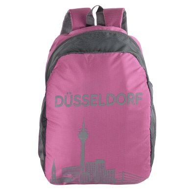 Dussledorf Polyester 17 Liters Pink Backpack With Adjustable Strap (DUSS-1601)