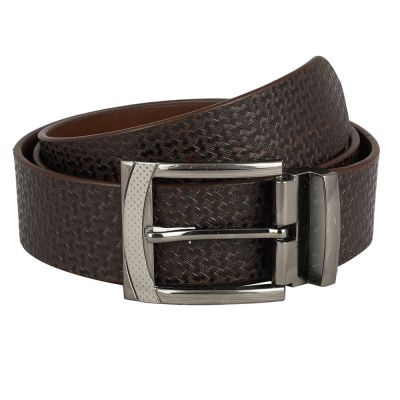 Dussledorf Genuine Leather taxture Pattern Belt With Removable Buckle For Men's (LV-0802)