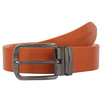 Dussledorf Genuine Leather Solid Pattern Belt With Removable Buckle For Men's (LL-08)