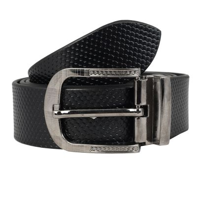 Dussledorf Genuine Leather taxture Pattern Belt With Removable Buckle For Men's (Fish-0801)