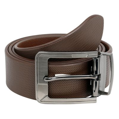 Dussledorf Genuine Leather taxture Pattern Belt With Removable Buckle For Men's (Honey-0802)