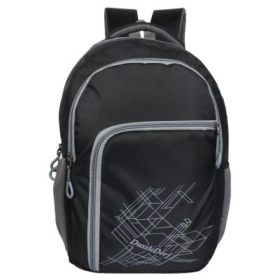 Dussledorf Polyester 18 Liters Black and Grey Laptop with 2 Compartment Backpack (DUSS-VIII-0118)