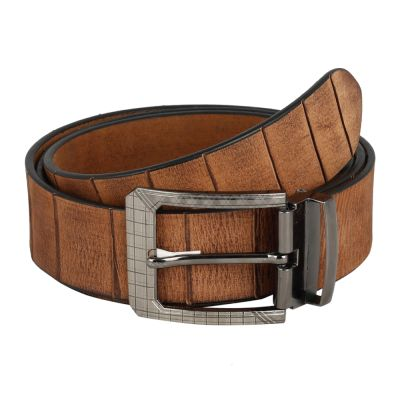 Dussledorf Genuine Leather taxture Pattern Belt With Removable Buckle For Men's (Pesa-0801)