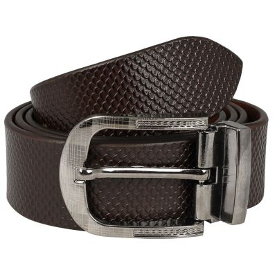 Dussledorf Genuine Leather taxture Pattern Belt With Removable Buckle For Men's (Fish-0802)