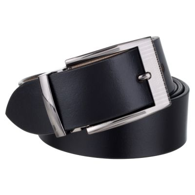 Dussledorf Genuine Leather Solid Pattern Belt With Removable Buckle For Men's (John-01)