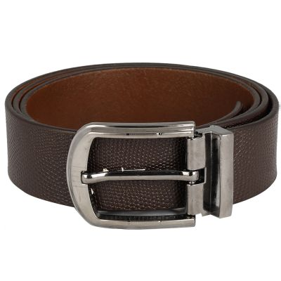 Dussledorf Genuine Leather taxture Pattern Belt With Removable Buckle For Men's (CROSS-0802)
