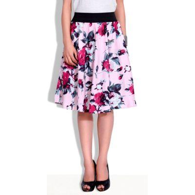FabnFab Floral Print Women's Pink Culotte Shorts