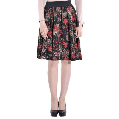 FabnFab Paisley Women's Brown Red Shorts