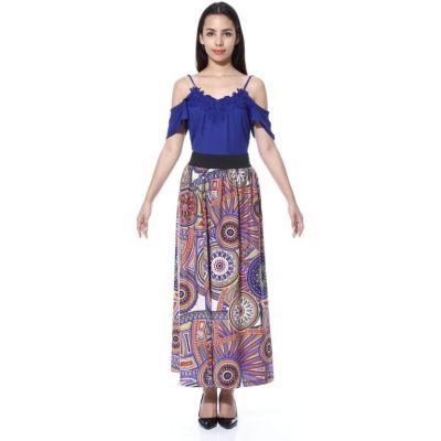 FabnFab Printed Women's A-line Multicolor Skirt