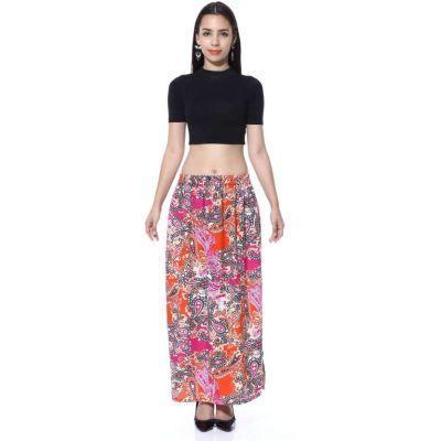 FabnFab Paisley Women's Pencil Multicolor Skirt