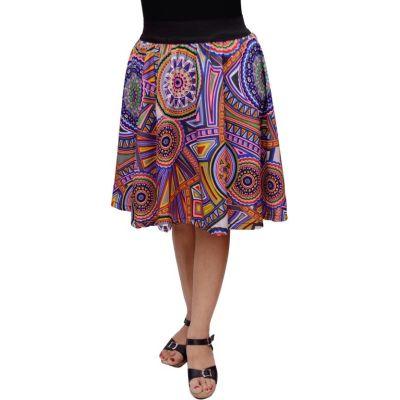 FabnFab Printed Women's Gathered Multicolor Skirt