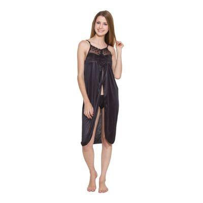 Kismat Fashion Black Short Nighty