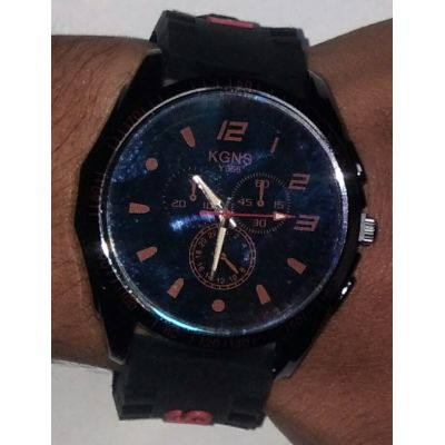 Stylish KGNS Y056 Red  Watch