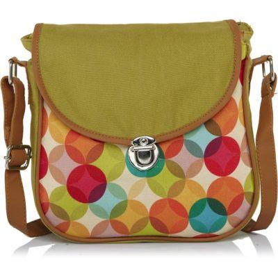 Haqeeba Women Green Canvas Sling Bag