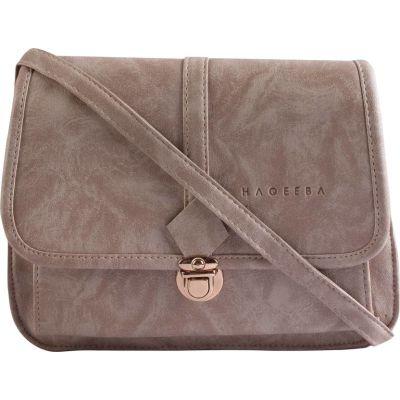 Haqeeba Women White Leatherette Sling Bag