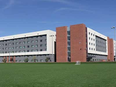 Image of student housing complex on campus