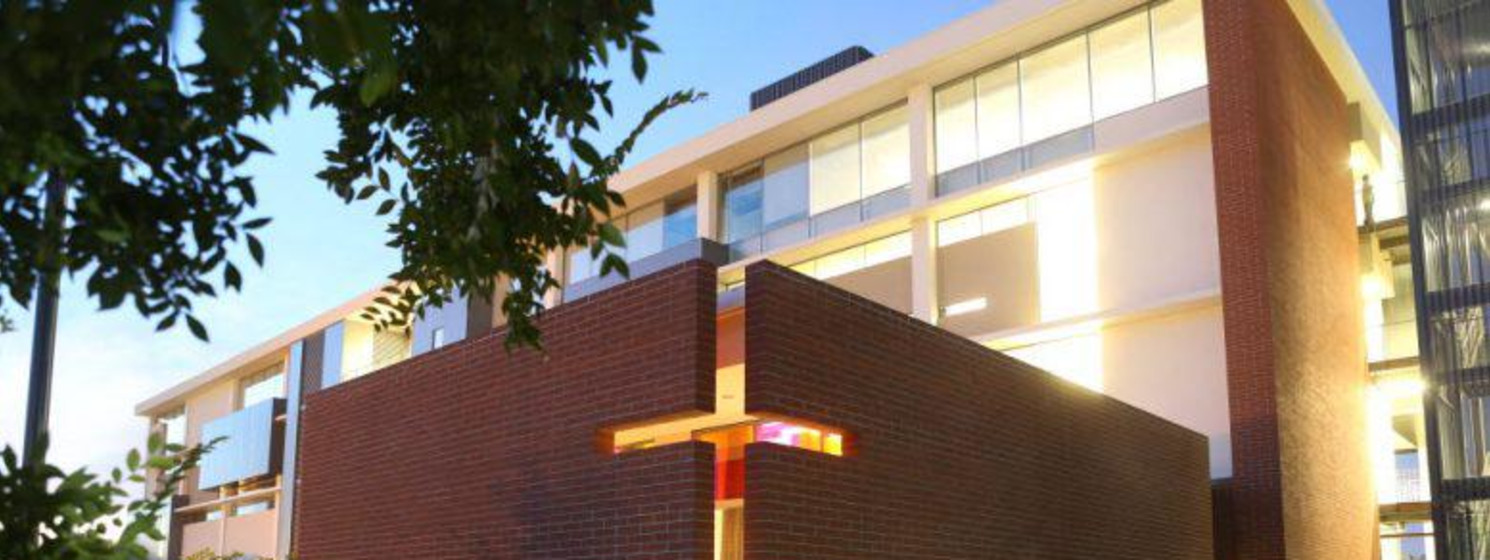 GCU building with a cross on it
