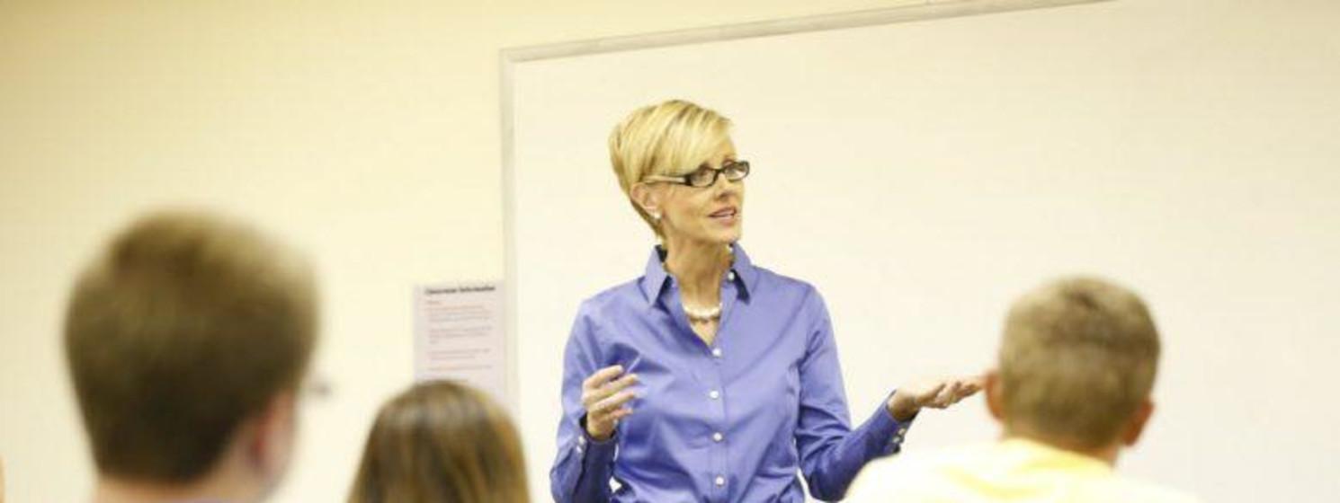 professor teaching to students