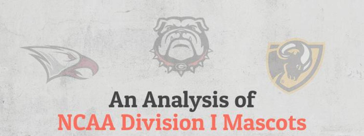 analysis of NCAA division 1 mascots