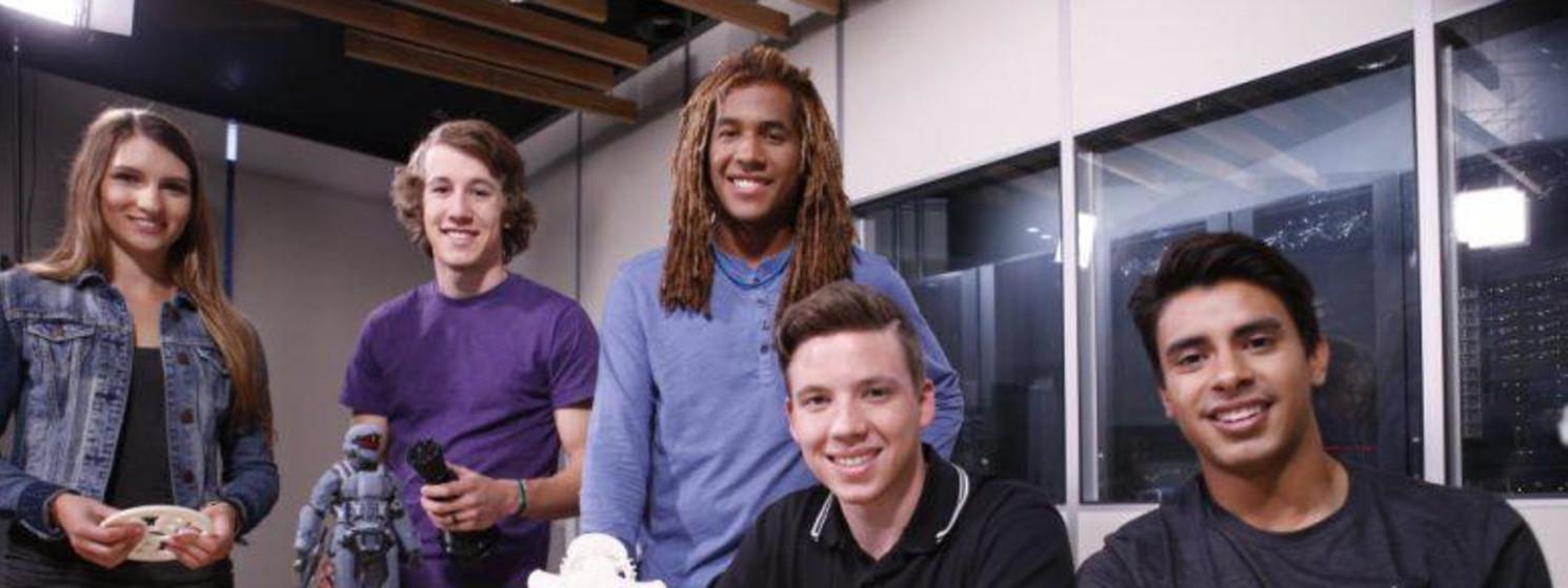 GCU robotics students