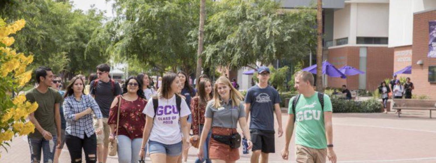 Grand Canyon University students