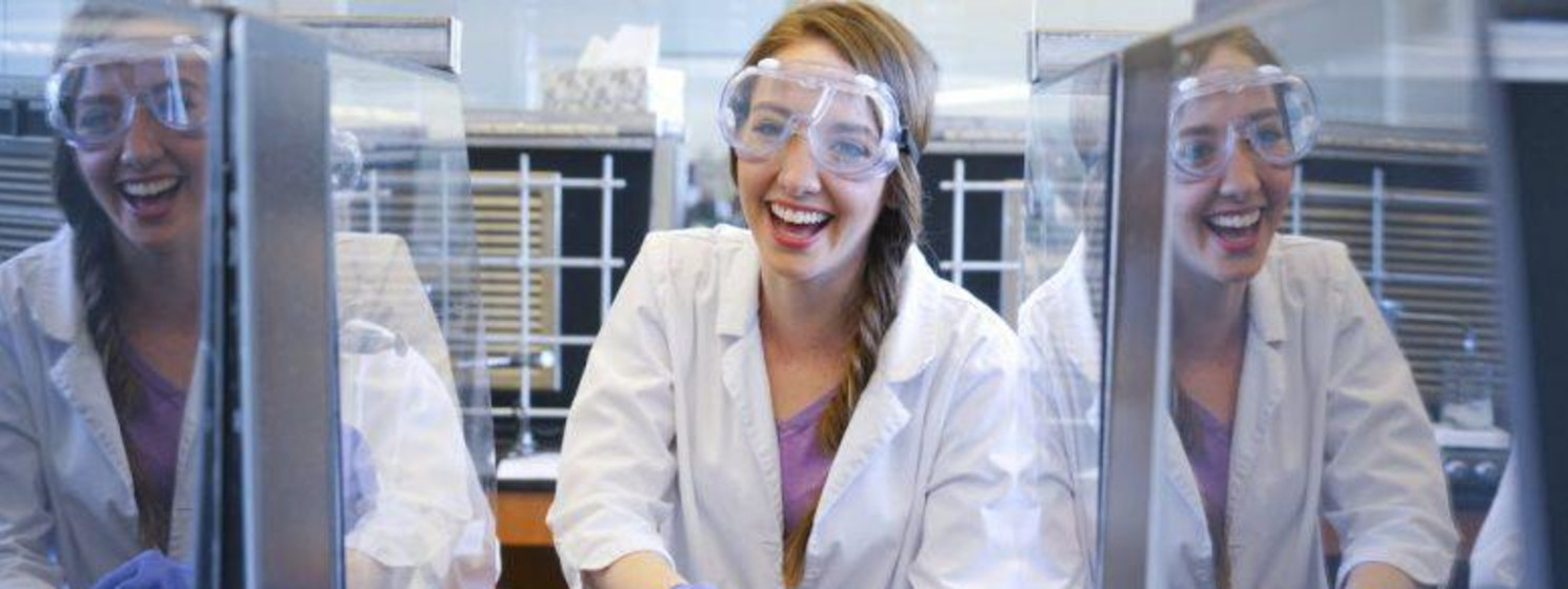 STEM student in a lab