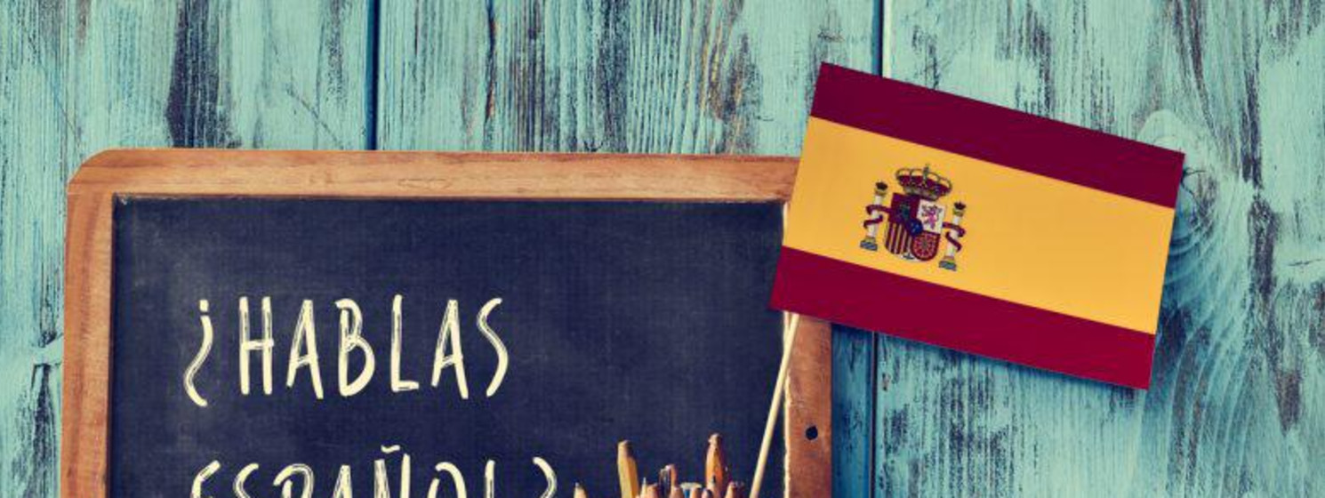 chalkboard with Spanish flag