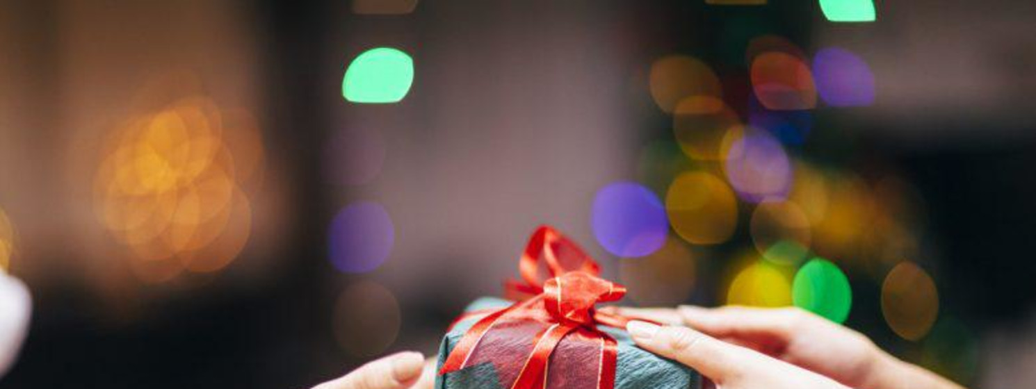 giving someone a Christmas gift