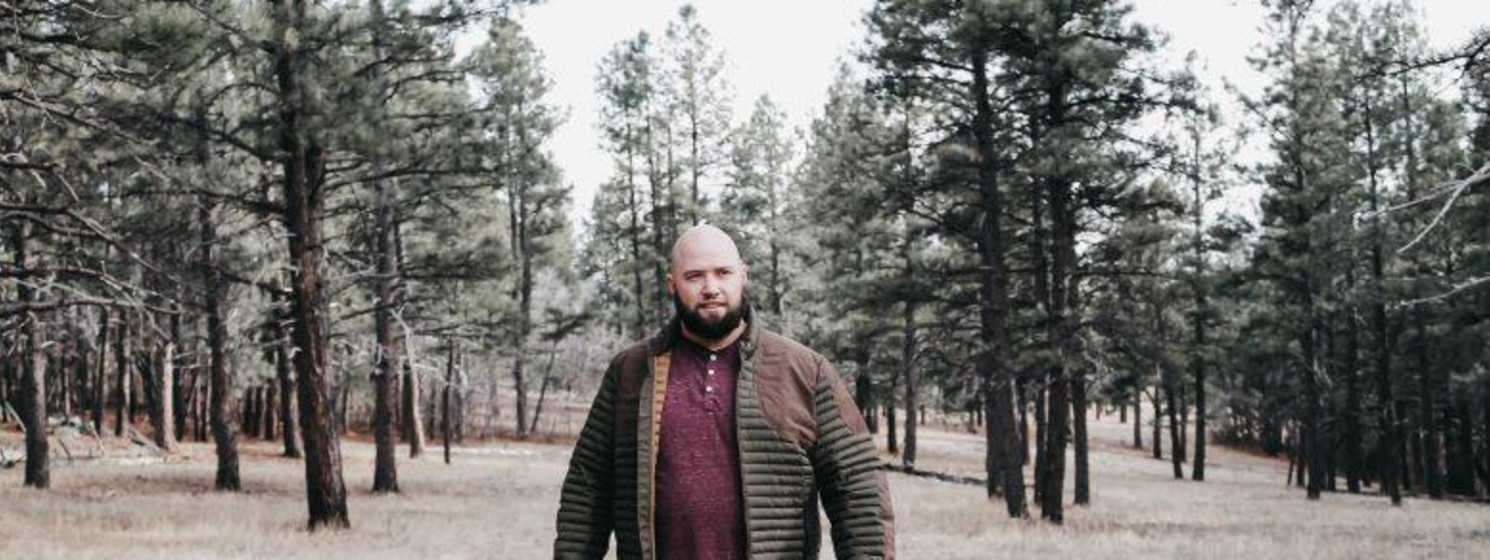 Dr. Randall Downs in a forest