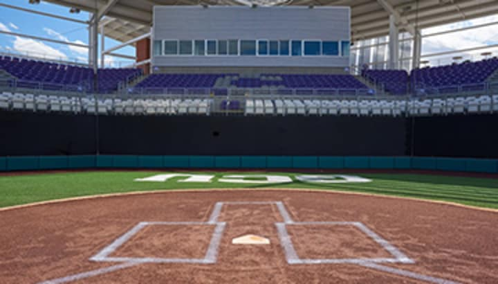 A look at Brazell Field from the pitchers mound.