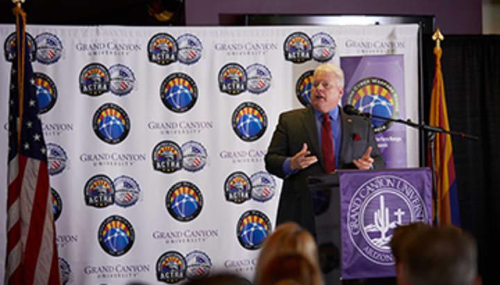 John Iannerelli speaks at the Cyber Warfare Range press conference