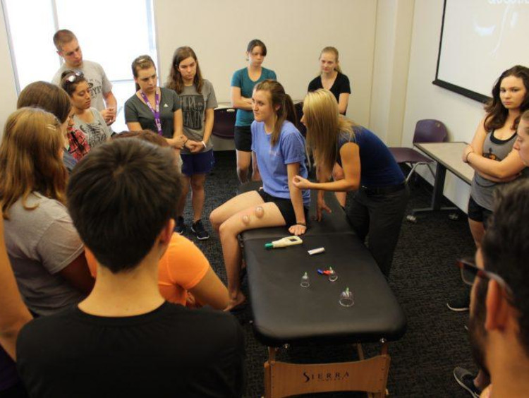 GCU cupping therapy session