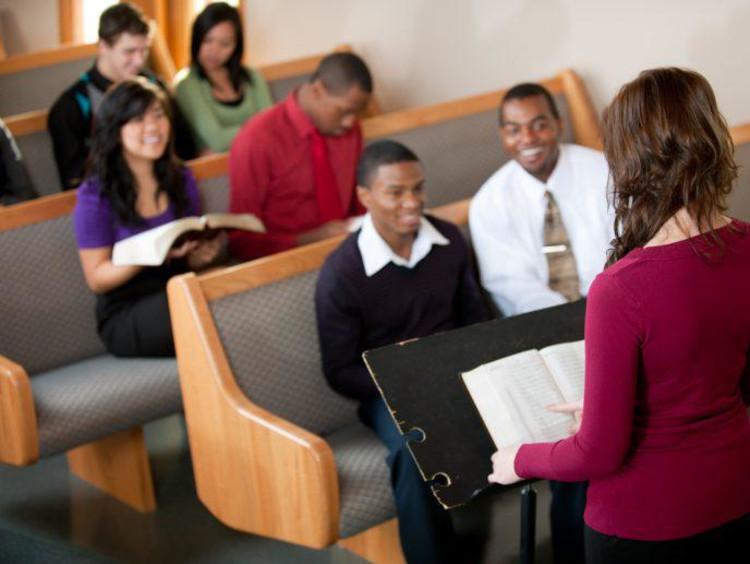 pastor speaking in church