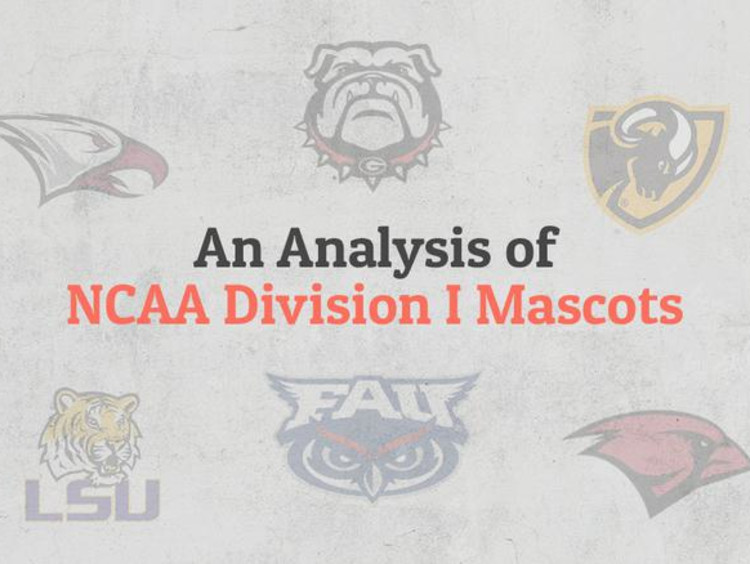 analysis of NCAA division 1 mascots