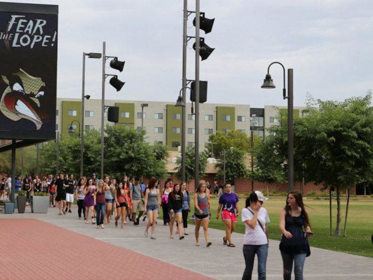 GCU students on campus