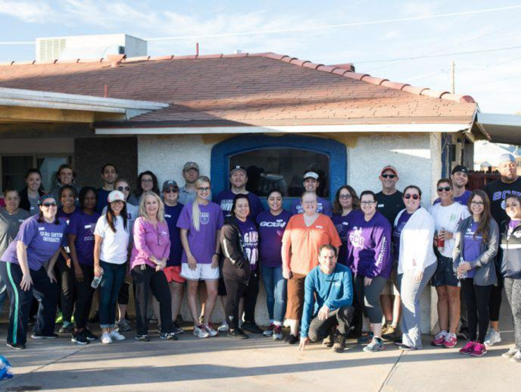 GCU students working on a community service project