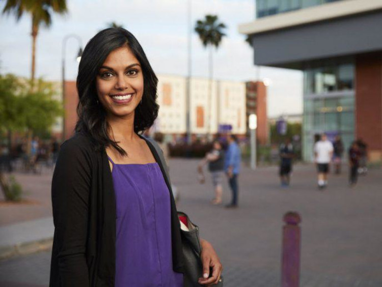 Indian female business student at GCU campus