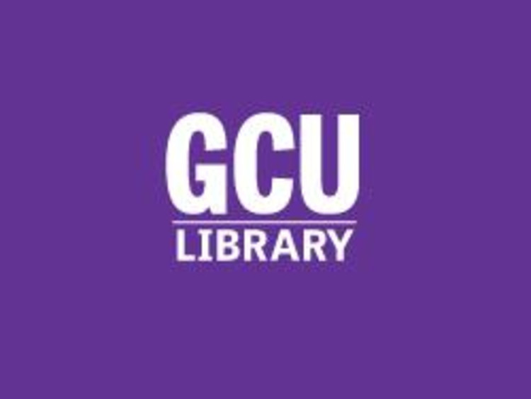 GCU library on purple background