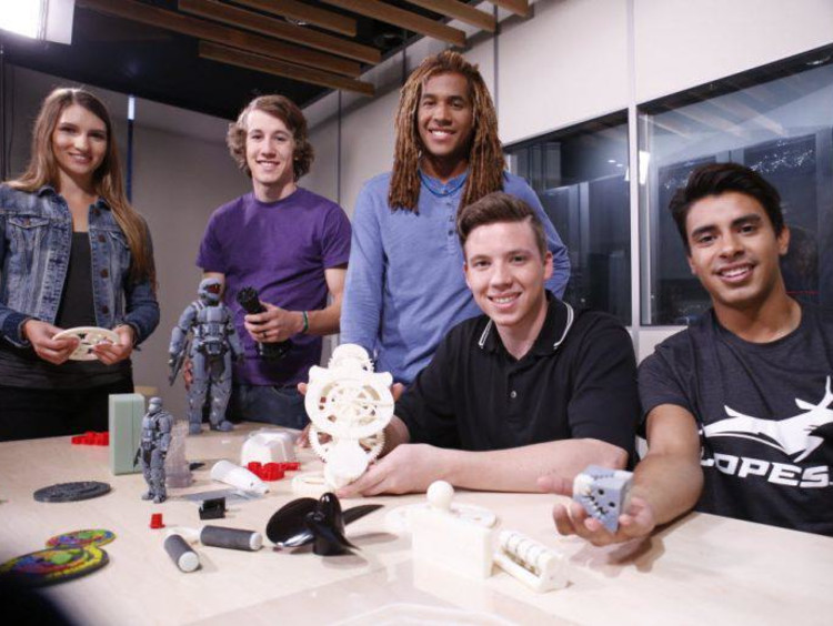 GCU robotics students