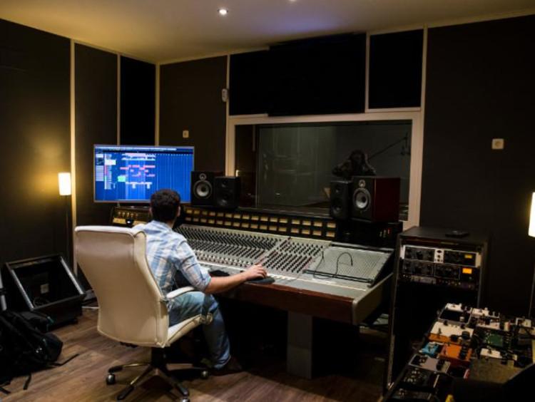 Man in sound studio