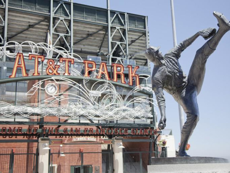 Baseball pitcher statue outside of AT&T Stadium