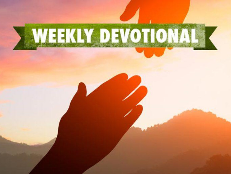 Weekly Devotional: Two hands reaching for each other