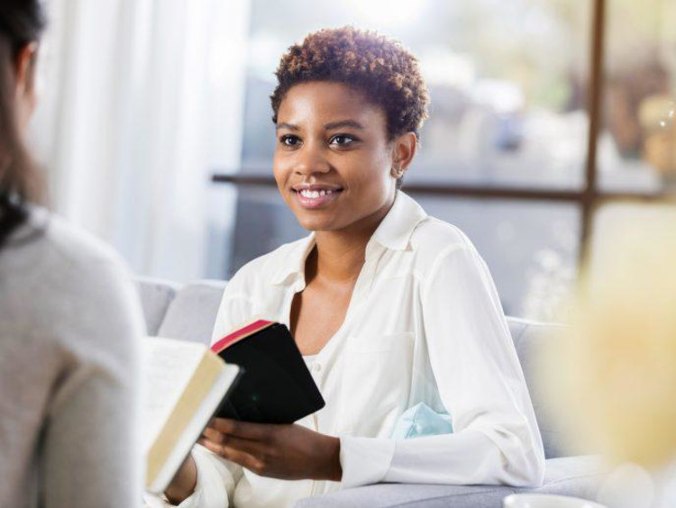 Women studying scripture together
