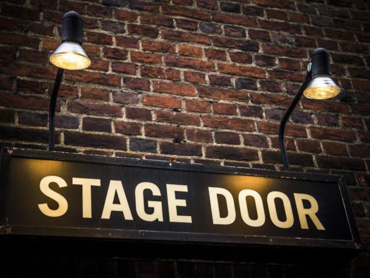 Theatre stage door