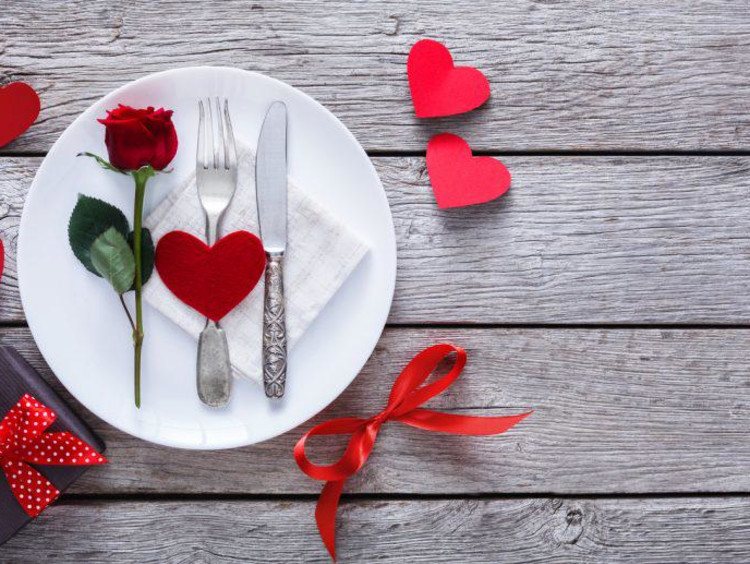 A Valentine's Day table setting