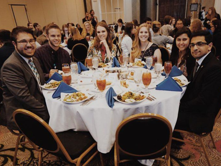 A group of GCU honors students at the convention