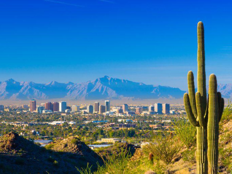 View of the city of Phoenix