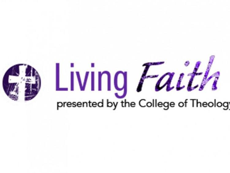 """living faith"" in purple"
