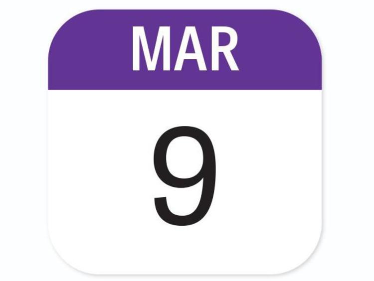 March 9 calendar icon